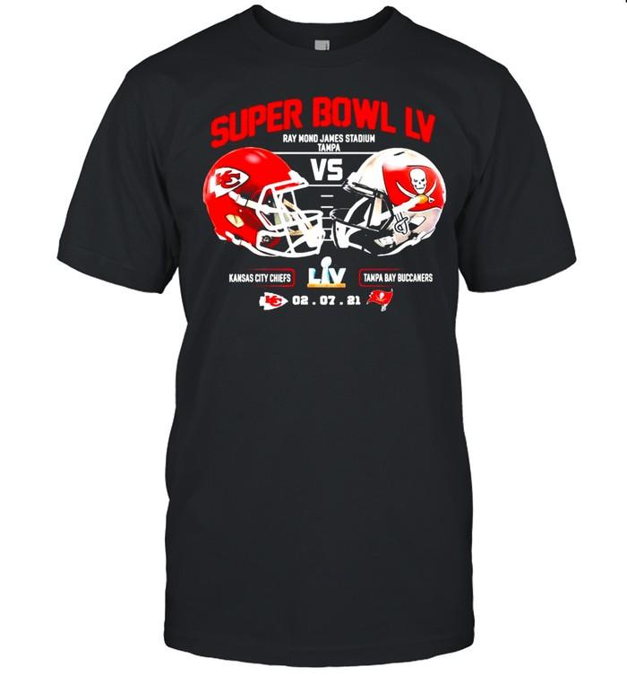 2021 Kansas City Chiefs Vs Tampa Bay Bucceeners Super Bowl LV Final NFL Classic shirt