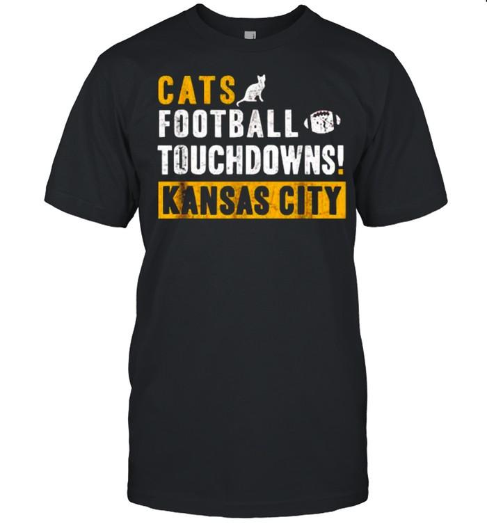 Cats touchdown football touchdowns kansas City shirt