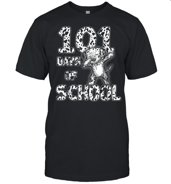 101 Days School Dabbing Dalmatian Dog 100 days Teacher shirt