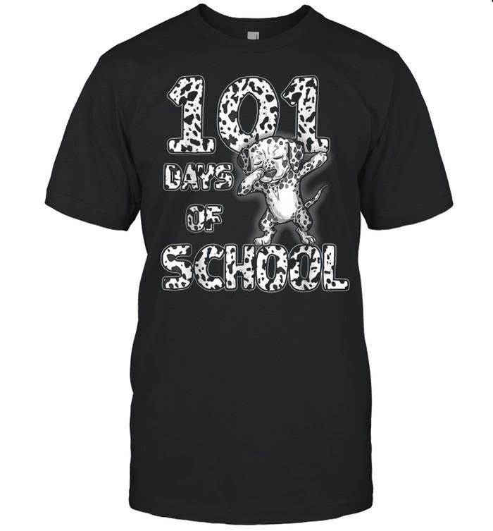 101 Days School Dabbing Dalmatian Dog 100 days Teacher shirt
