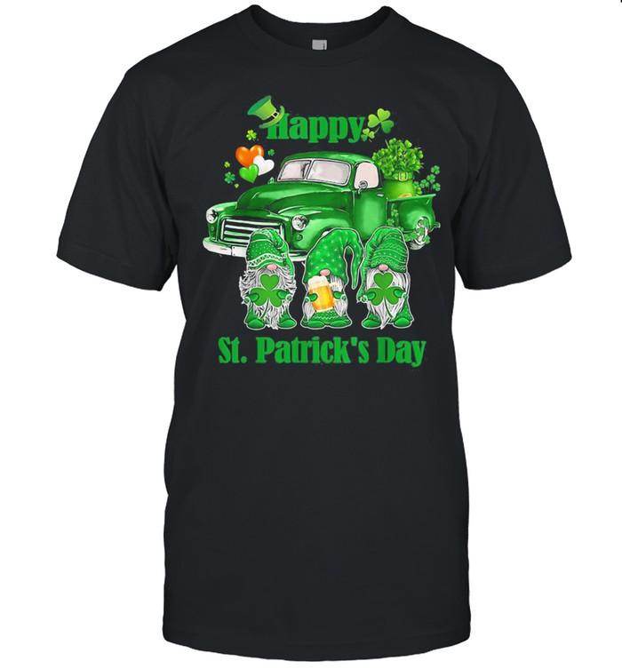 Happy Gnomes Truck St Patrick's Day Shirt
