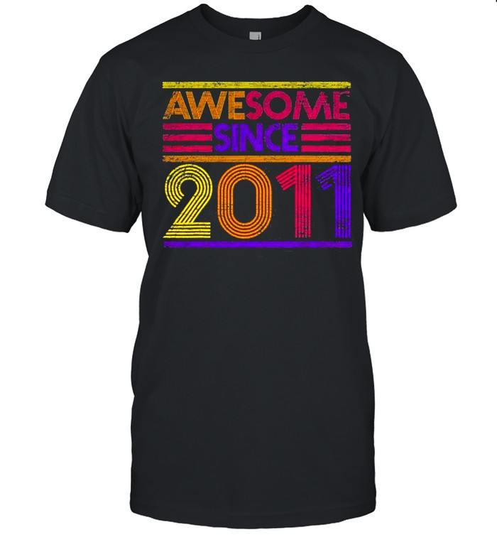 10Th Birthday Gifts Boys Girls Awesome Since 2011 Shirt