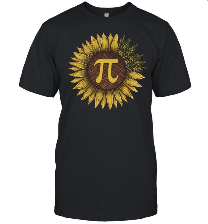 Pi Day Sunflowers Pi Number Symbol Teacher Math shirt