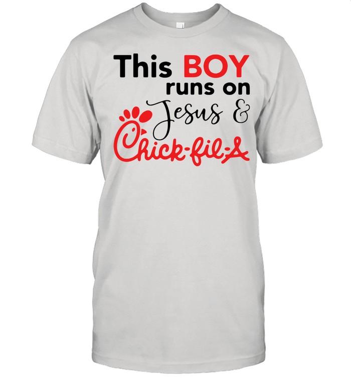 This boy runs on Jesus chick fil a shirt