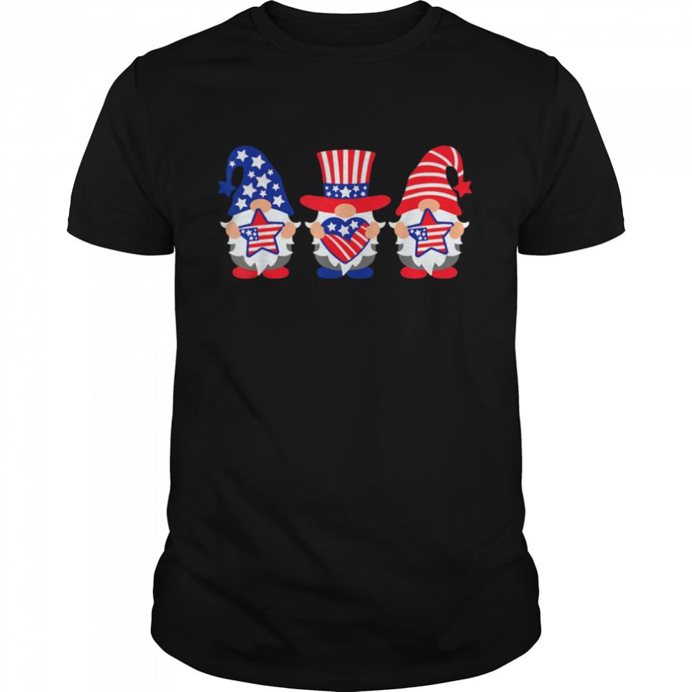Three Gnomes 4th Of July American USA Patriotics shirt