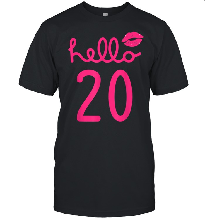 Hello 20 Year Old 20th Birthday Chapter 20 shirt
