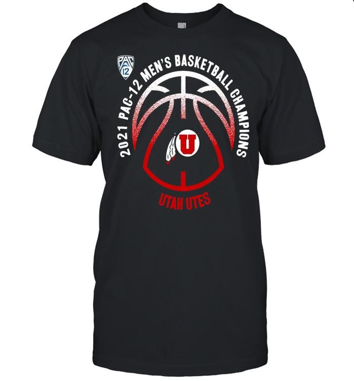 Utah Utes 2021 PAC-12 men's basketball champions shirt