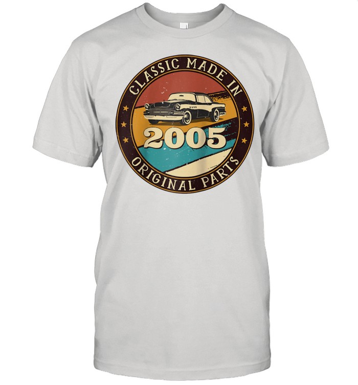 16 Years Old Classic Retro Car Made In 2005 16th Birthday Shirt