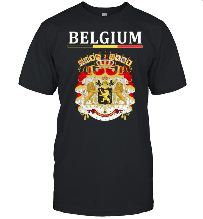 Flagge Belgien Wappen Belgien Belgische Flagge Shirt