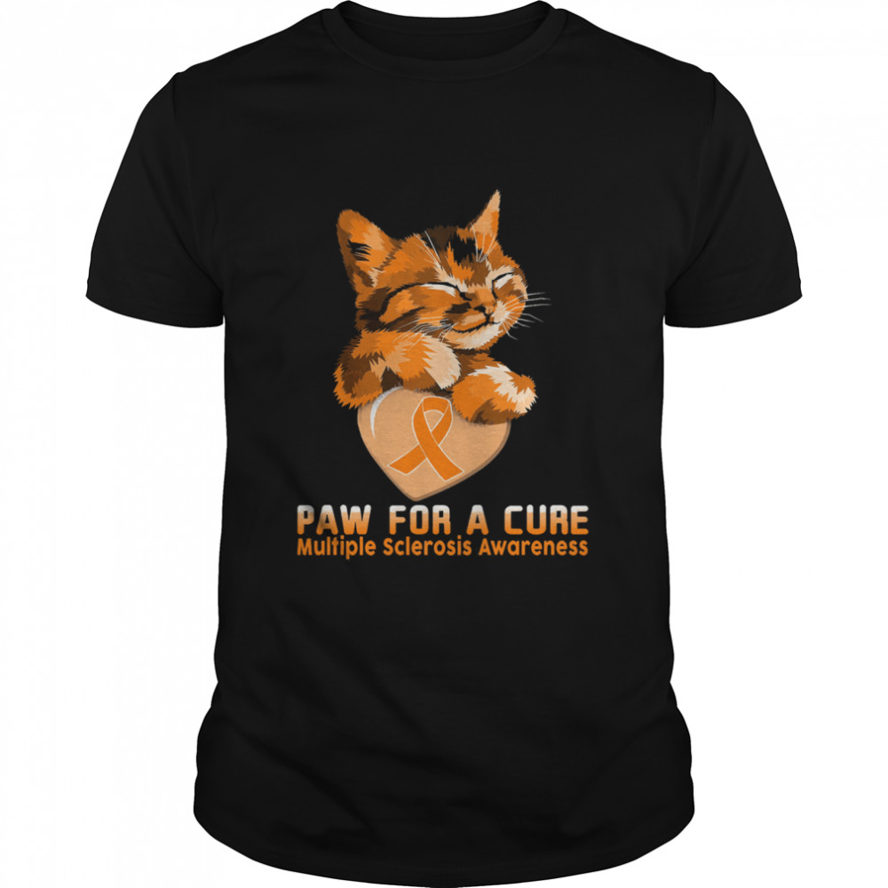 Cat paw for a cure multiple sclerosis awareness shirt